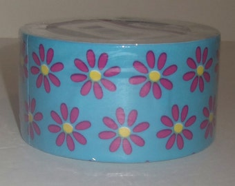 Retro Flower Power Duct Tape 1 Rolls 15 Ft DIY Art Project Crafting Supplies Paper Crafts Scrapbooking New