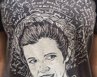 St. Carrie Fisher- Artist Saint T-Shirt