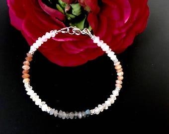 Moonstone Minimalist Bracelet