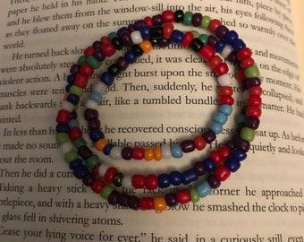 Rainbow wrap around bracelet or necklace