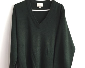 Vintage forest green oversized sweater