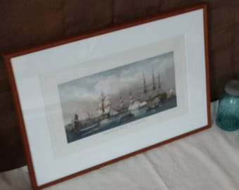 SHEERNESS IN 1850 Framed Etching by T.A. Prior