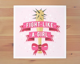 Fight Like a Girl Print