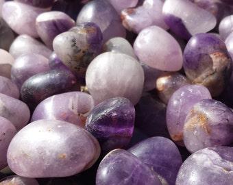 AMETHYST TUMBLED Stone One (1) Medium/Large Natural Tumble Stone