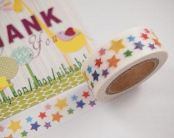 Colorful Stars Washi Tape (10M)
