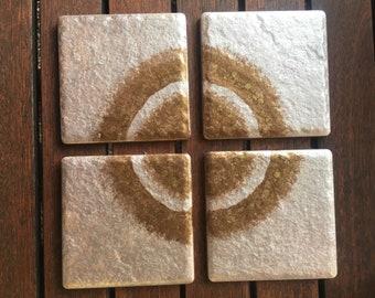 Rose Gold Decorative Coasters (Set of 4)