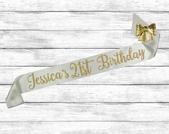 21st Birthday Sash, 21st Birthday, Custom Birthday Sash, 21 Birthday Sash, Best Friend Birthday, Birthday Sash 21, Finally 21 Sash