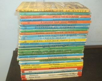 Set of 29 Nature Themed Ladybird books