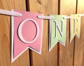 custom ONE high chair banner, first birthday, birthday banner, one banner, 1st birthday, 1st birthday banner, highchair banner, cake smash