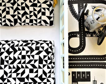 Toddler Duvet cover Cotton Baby Black and white Ikea size Kids Bedding Nursery Crib bedding Kids room baby room gift babyshower