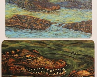 Cajun Gator Art Magnets - Alligator paintings