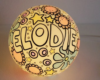 Hand-decorated lamp