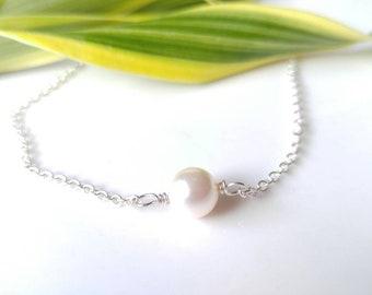 Anklet, Pearl Anklet, swarovsky pearl anklet, Sterling silver anklet, white pearl, bracelet, necklace,toddlers, girls, teens, mom, gift