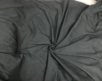 """Charcoal gray knit 12 Ounce 95 Cotton 5% Spandex jersey knit stretch fabric, sewing jersey knit, 56""""-58"""" wide, sold by the yard"""