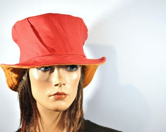 Hat made of recycled fabrics