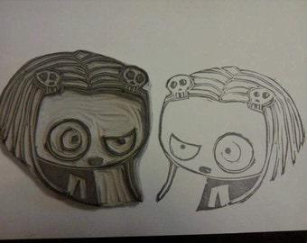 Lenore hand carved rubber stamp