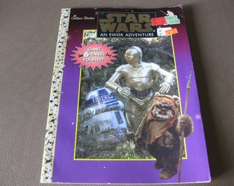 Vintage Star Wars An Ewok Adventure Comics to Color 1997