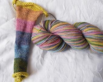 Pastel Rainbow self-striping sock yarn