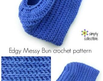 Crochet Beanie Hat Pattern, Messy Bun Pattern, Ponytail Hat Pattern, Messy Bun Crochet Pattern, Beginner Crochet, Messy Bun Beanie