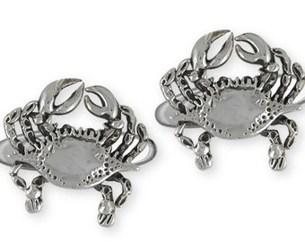 Sterling Silver Crab Cuff Link Jewelry