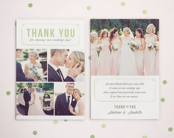 Wedding Thank you Card Template for Photographers, Wedding Photography - Photoshop Templates - Wedding Thank you Card - TK001