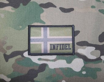 NORWAY INFIDEL Flag Multicam Military Morale Patch Army Viking ODIN Norwegian