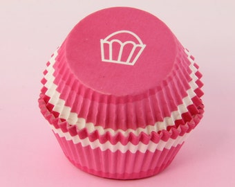 Pink Swirl Cupcake Liners, 2'' Standard Size , Baking Bulk Cups Valentines Day