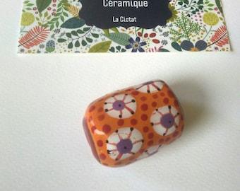 Made in Provence ceramic barrel bead