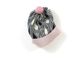 Rainy Hat - soft knitted wooly hat, winter beanie, lambswool womens knit hat