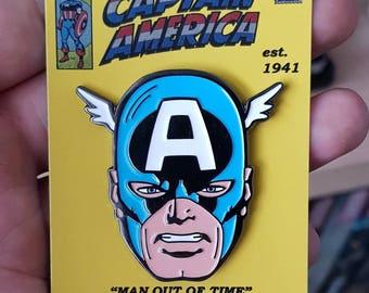 CAPTAIN AMERICA retro 80s enamel pin