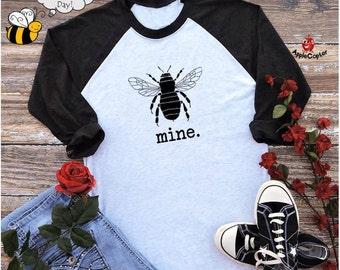 Mens Valentine's Day Shirt, Guys Valentine Gift, Trendy Valentine Shirt, Vintage Bee Design, Bumblebee Shirt, Funny Valentine, Applecopter