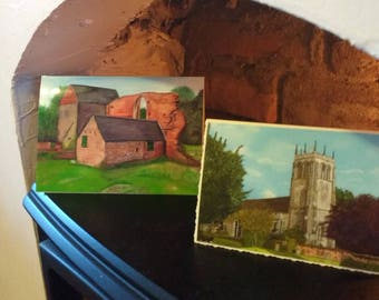 Hand made printed cards from my original oil paintings depicting D H Lawrence country scenes.