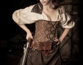 Brown Saloon Girl Skirt