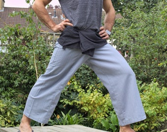 2 tones selected choice of Thai Fisherman Pants. Yoga and meditation wrap trousers