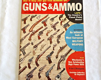 Guns and Ammo Magazine 1960 July Edition Vintage