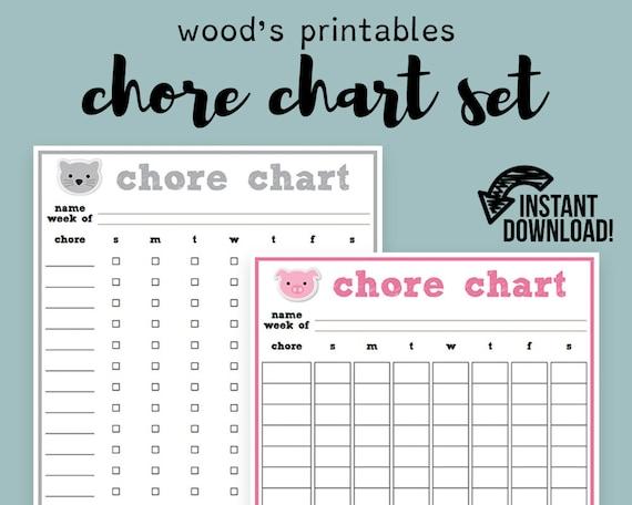 children u0026 39 s animal chore chart pdf printable family chore