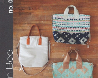 The On Holiday Bag by Green Bee Designs, Purse Pattern, Bag Pattern, Modern Bag Pattern, No. 020