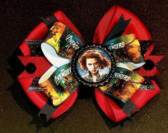Avengers Black Widow Cosplay Hair Bow Headband Movie Fantasy Marvel Comic