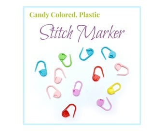 10 Stitch Markers, Crochet Stitch Placeholder, Knitting Stitch Marker, Stitch Marker Set, Plastic Colorful Stich marker, Crochet Tools