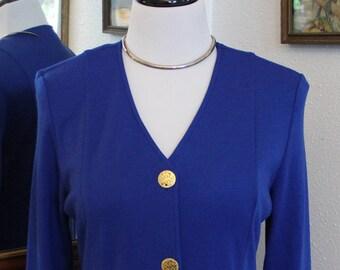 90's Vintage Imperial Blue Coat Dress