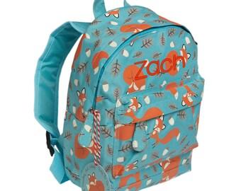 Fox backpack, Mini Backpack, Personalised backpack, Toddler Backpack, kids rucksack, Nursery Bag,preschool , back to school, Traditional