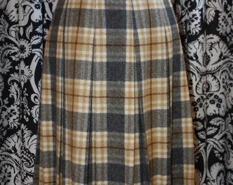 Vintage 1960's Pleated Wool Skirt;  Item #336-SK