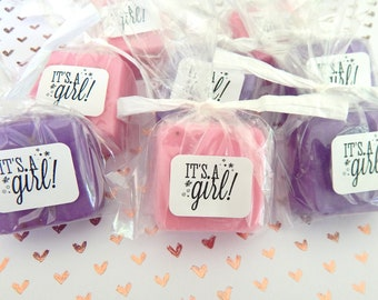Soap Its a Girl Baby Shower Favors Girl Soap Favor Adorable Babyshower Shower Favors Baby Shower Girl Party Favor Pretty Cute Handmade Favor