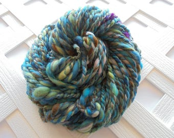 NEBULA Handspun Yarn, 2-Ply Chunky Yarn, Super Bulky Yarn, Merino Yarn, Kid Mohair Locks, Silk Yarn, Sparkly Yarn, Hubble Yarn, Weaving Yarn