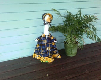 Goose Clothing  -  University of Michigan Wolverines Football Goose Dress for Plastic or Concrete Lawn Goose