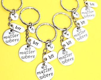 Custom, 6 Best Friends, 6 bff keychains, bff keychain, set of 6 friend keychains, promise keychain, 6 best friends,friends forever, gift BFF