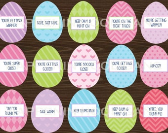Printable Easter Egg Hunt Clue & Hint Cards Instant Download