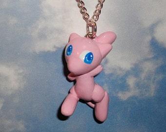 Pokemon - Mew Charm Necklace - Handmade PKMN Fanart