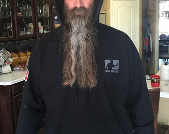 Facial Hair League Hoodie - Philanthropy, Fraternity, Microbrewery.