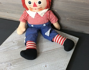 Vintage  Raggedy Andy Doll, Raggedy Andy, Doll, Toys - S